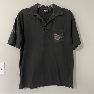 Harley Davidson Polo With Front Pocket Shirt